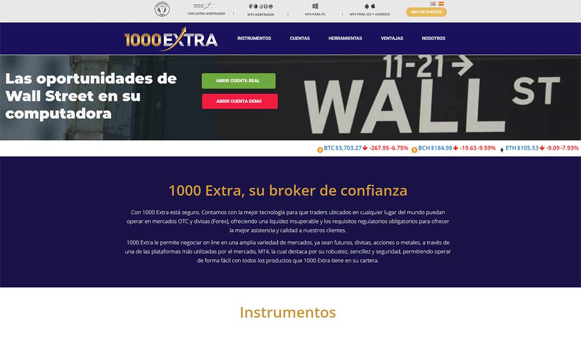 1000Extra: página web