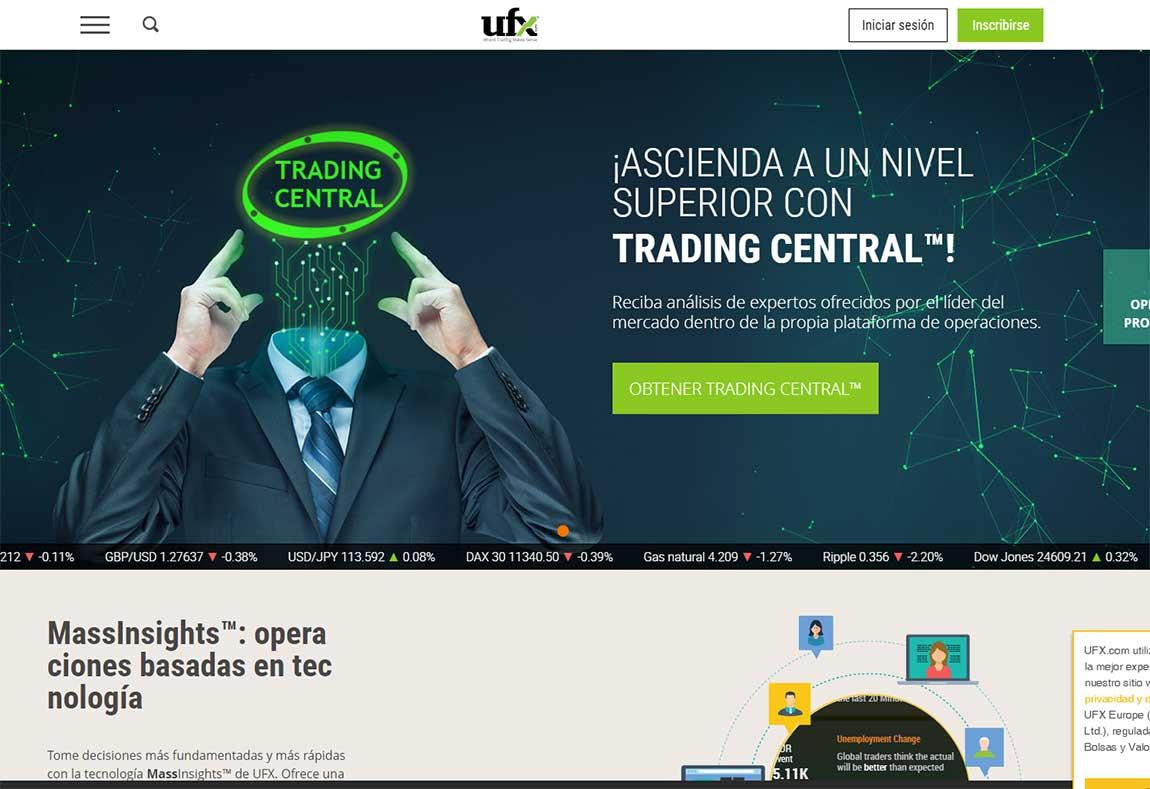 UFX: página web