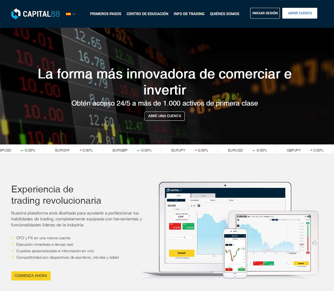 Capital 88: página web