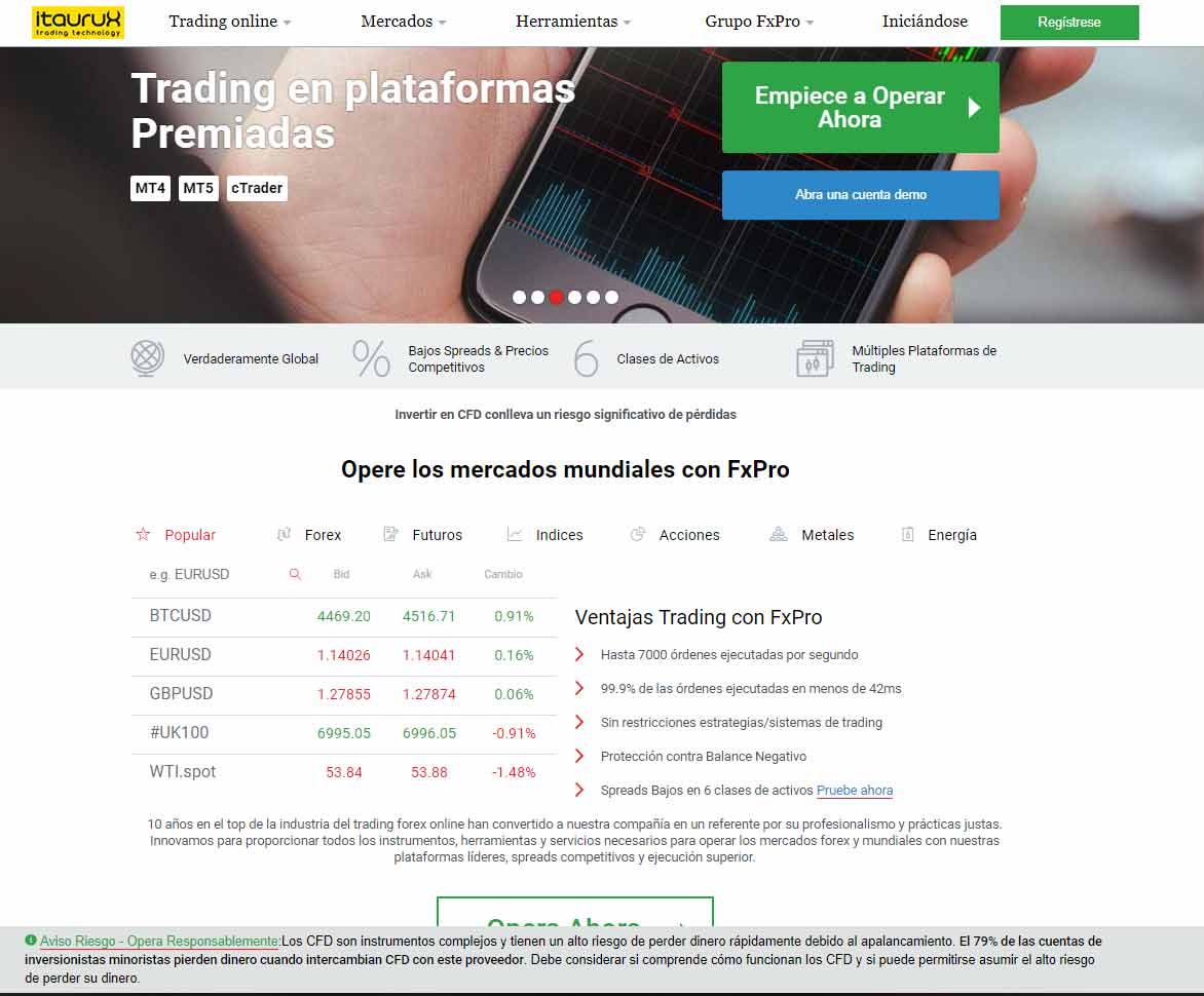Itaurux: página web