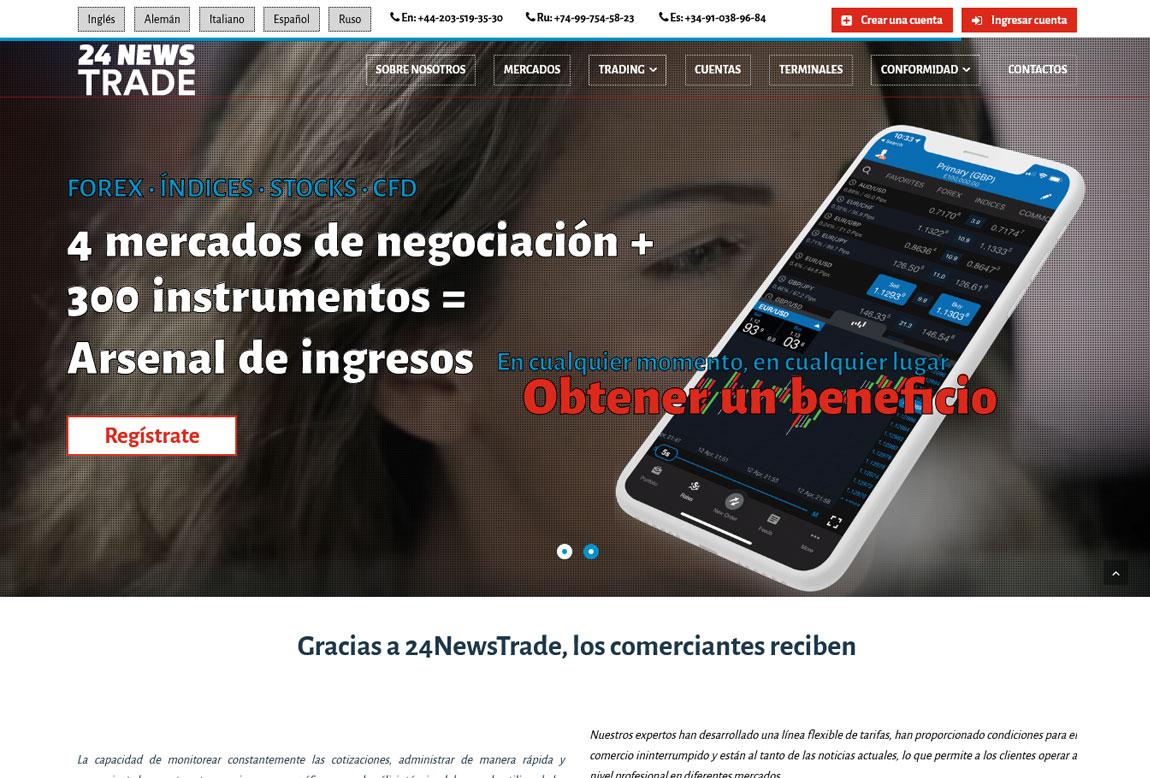 24NewsTrade: página web