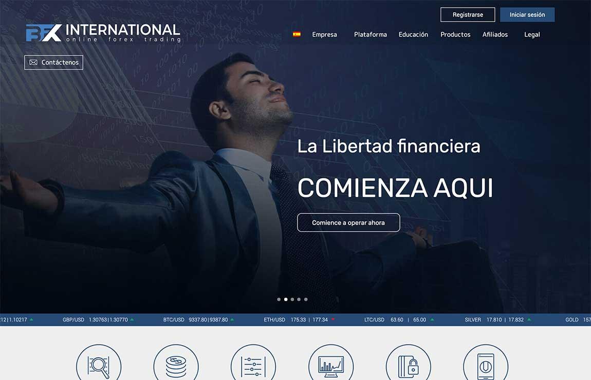 BFX International: página web