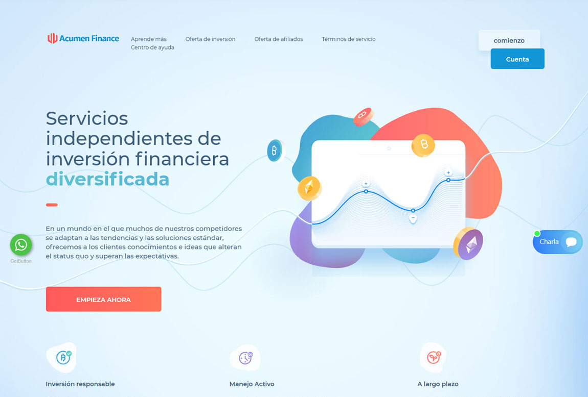 Acumen Finance: página web