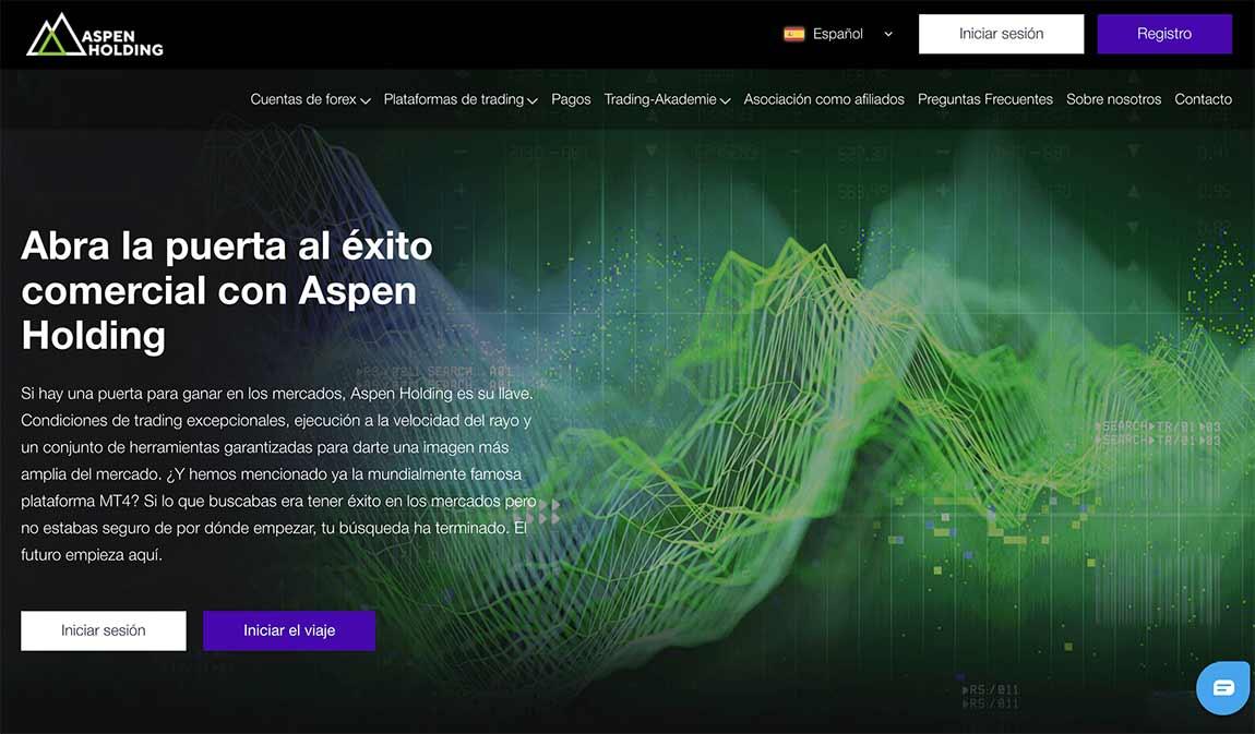 Aspen Holding: página web