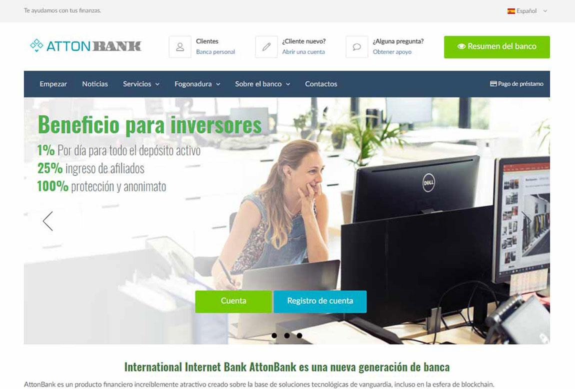 AttonBank: página web