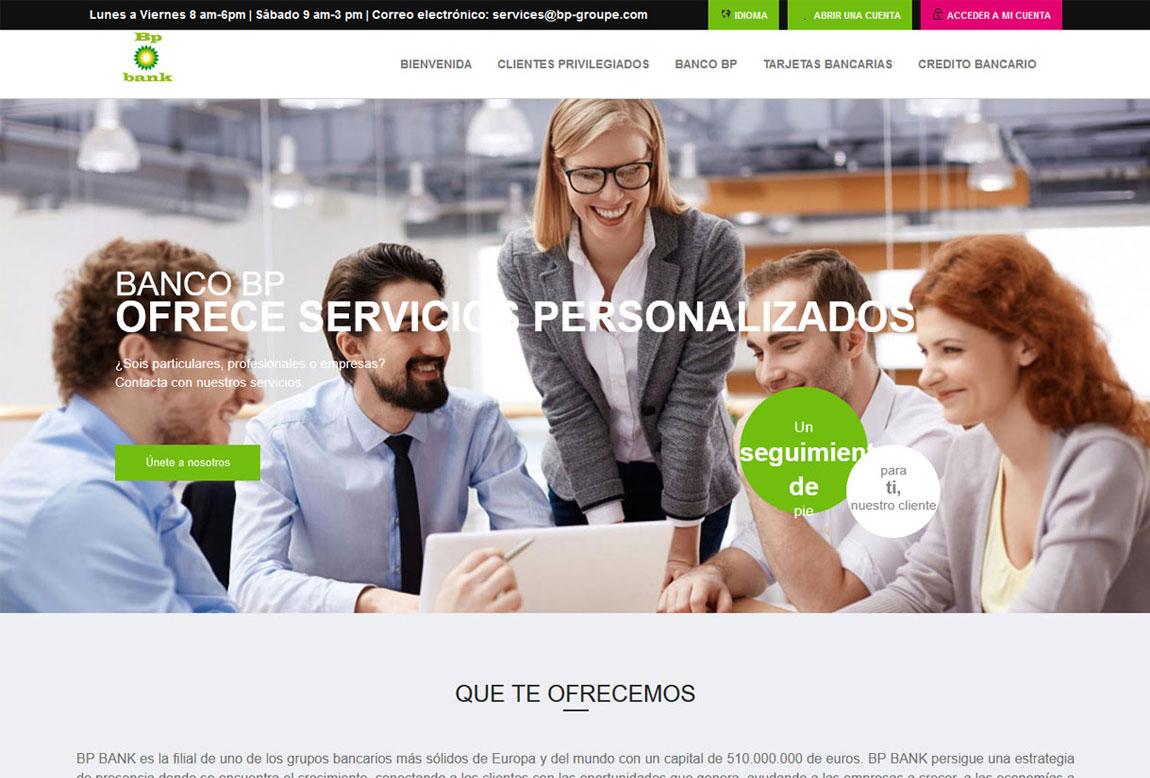 BP BANK: página web