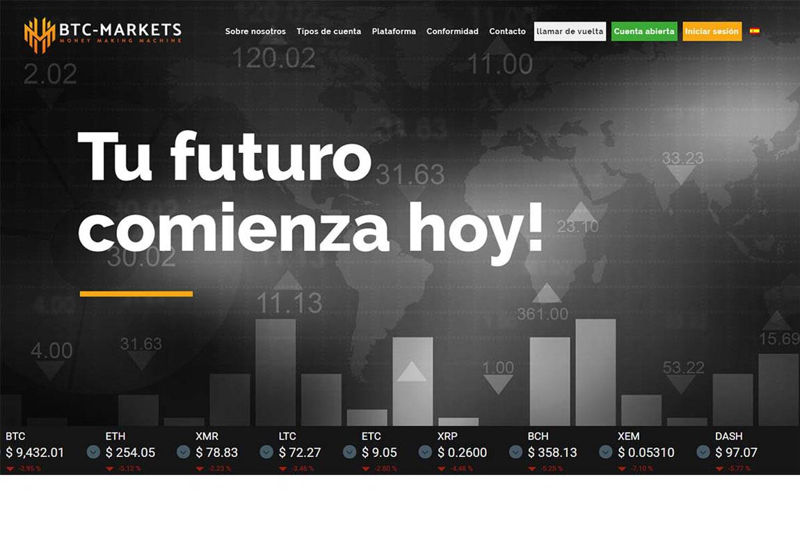 BTC-MARKETS: página web