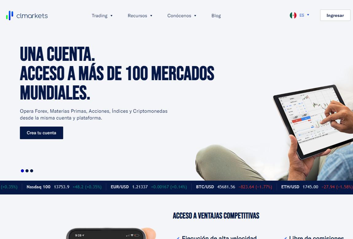 CLMarkets: página web
