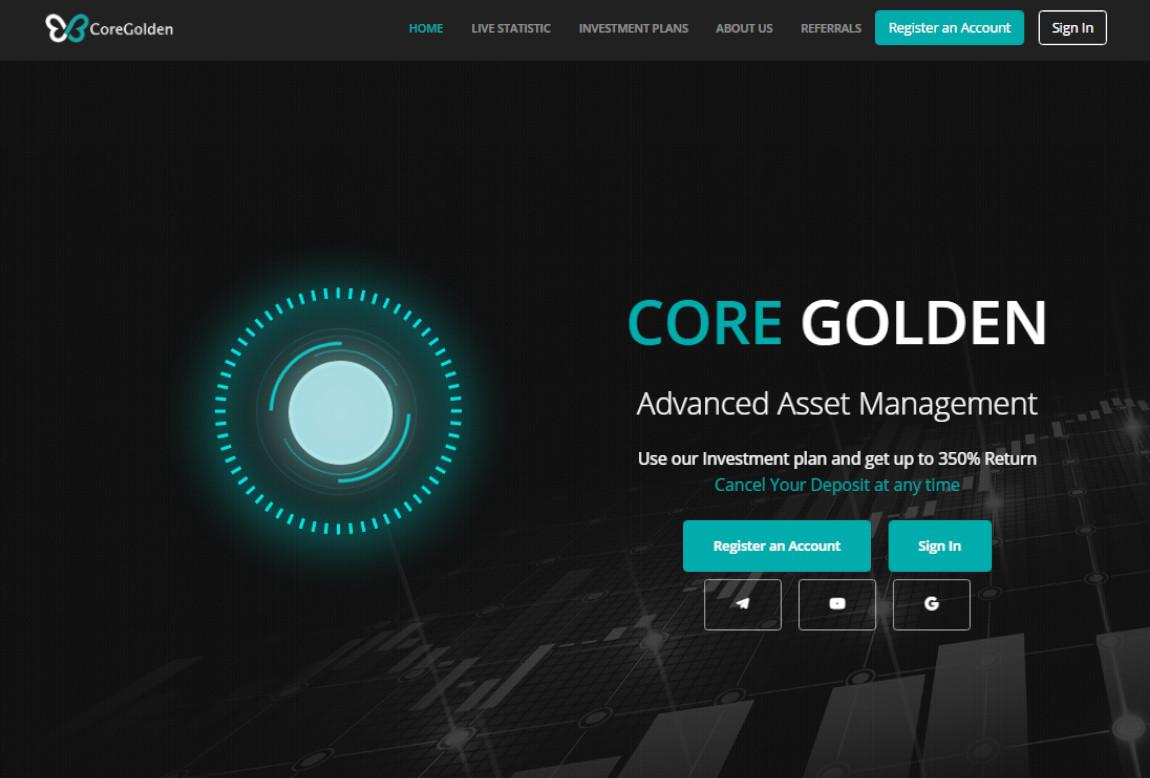 CoreGolden: página web