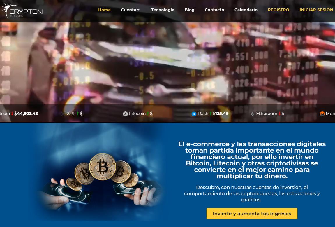 Crypton Broker: página web