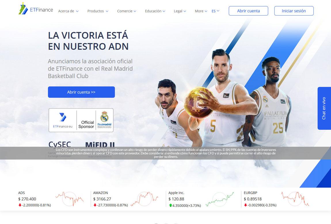 ETFinance: página web