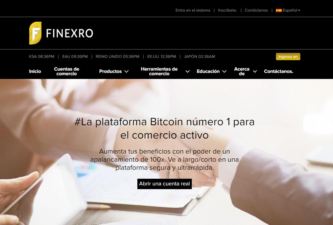 Finexro: página web