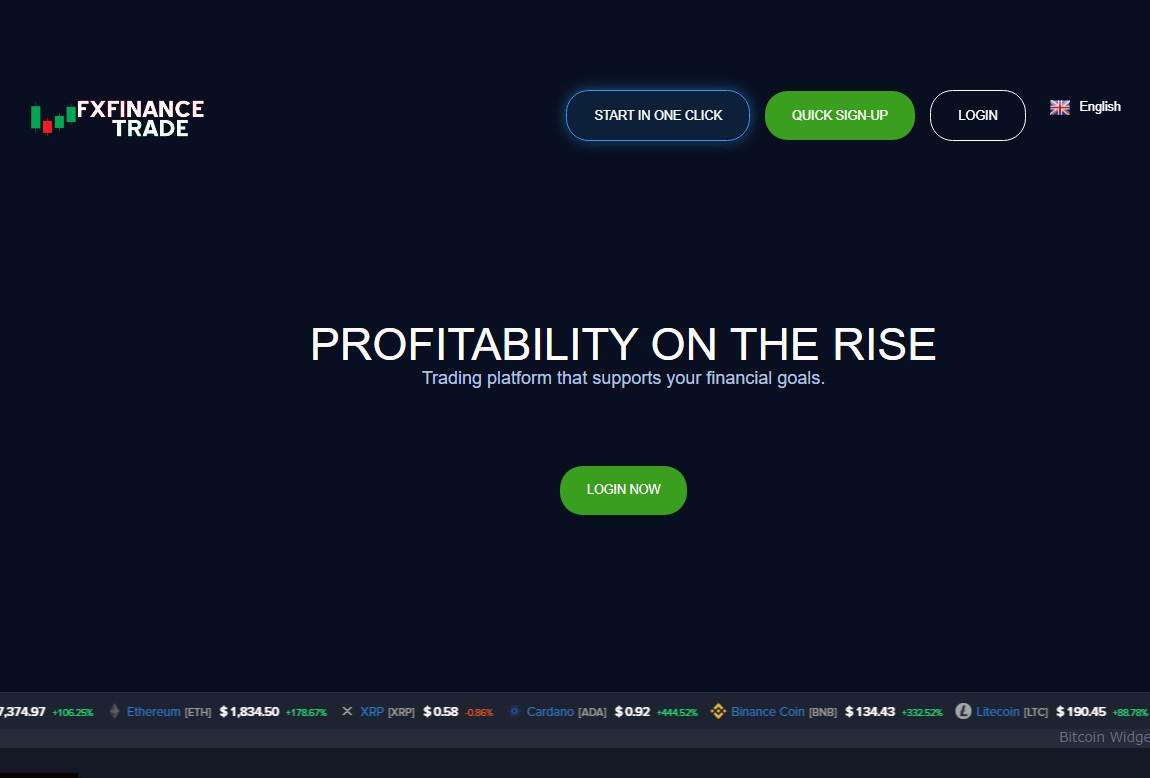 Fx Finance Trade: página web