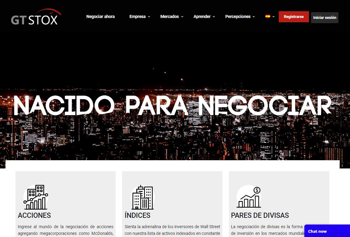 GT Stox: página web