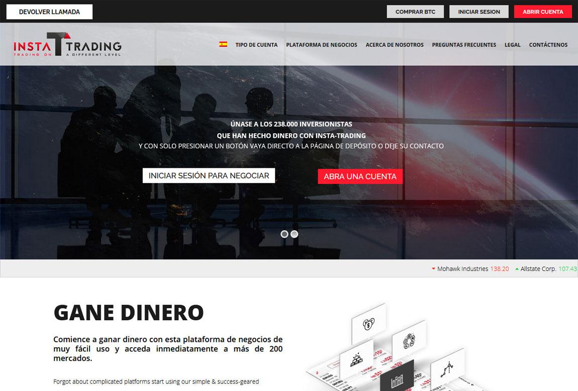 Insta-Trading: página web