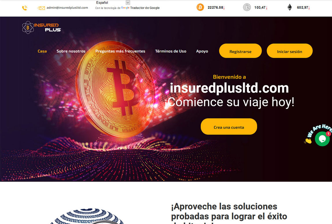Insured Plus: página web