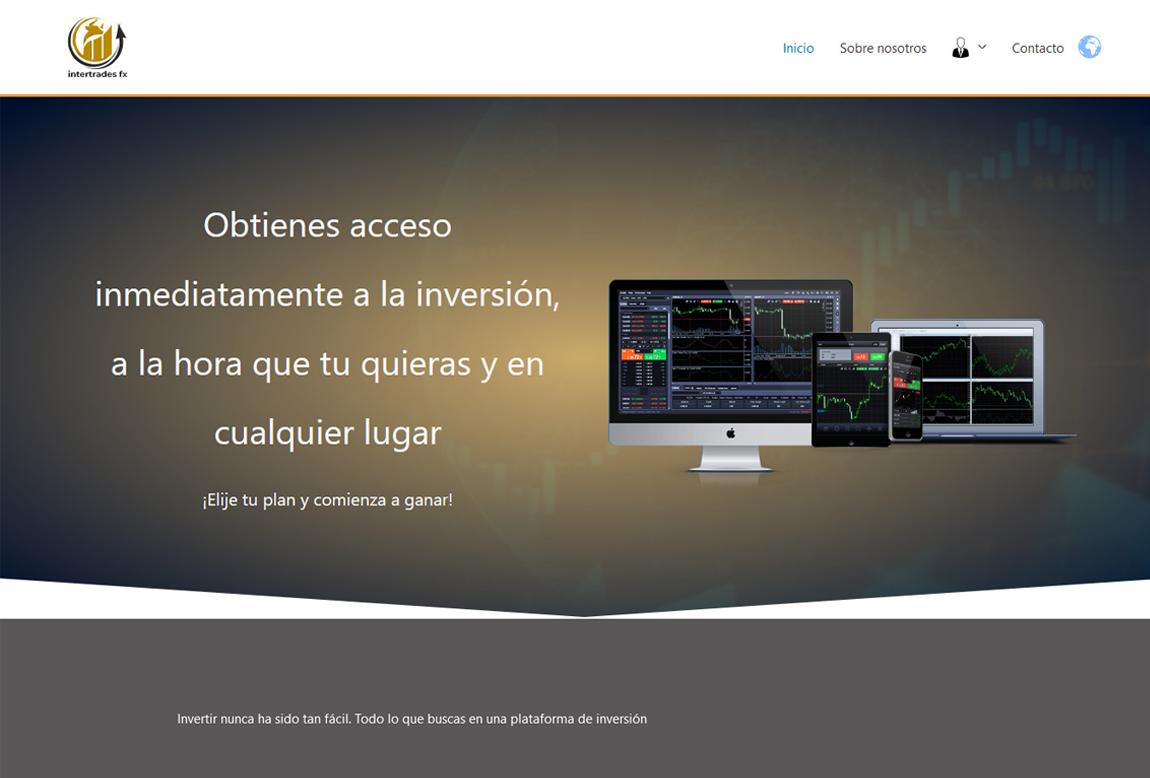 Intertrades FX: página web