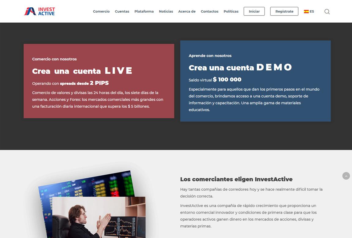 InvestActive: página web