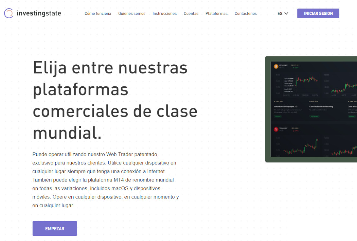 InvestingState: página web