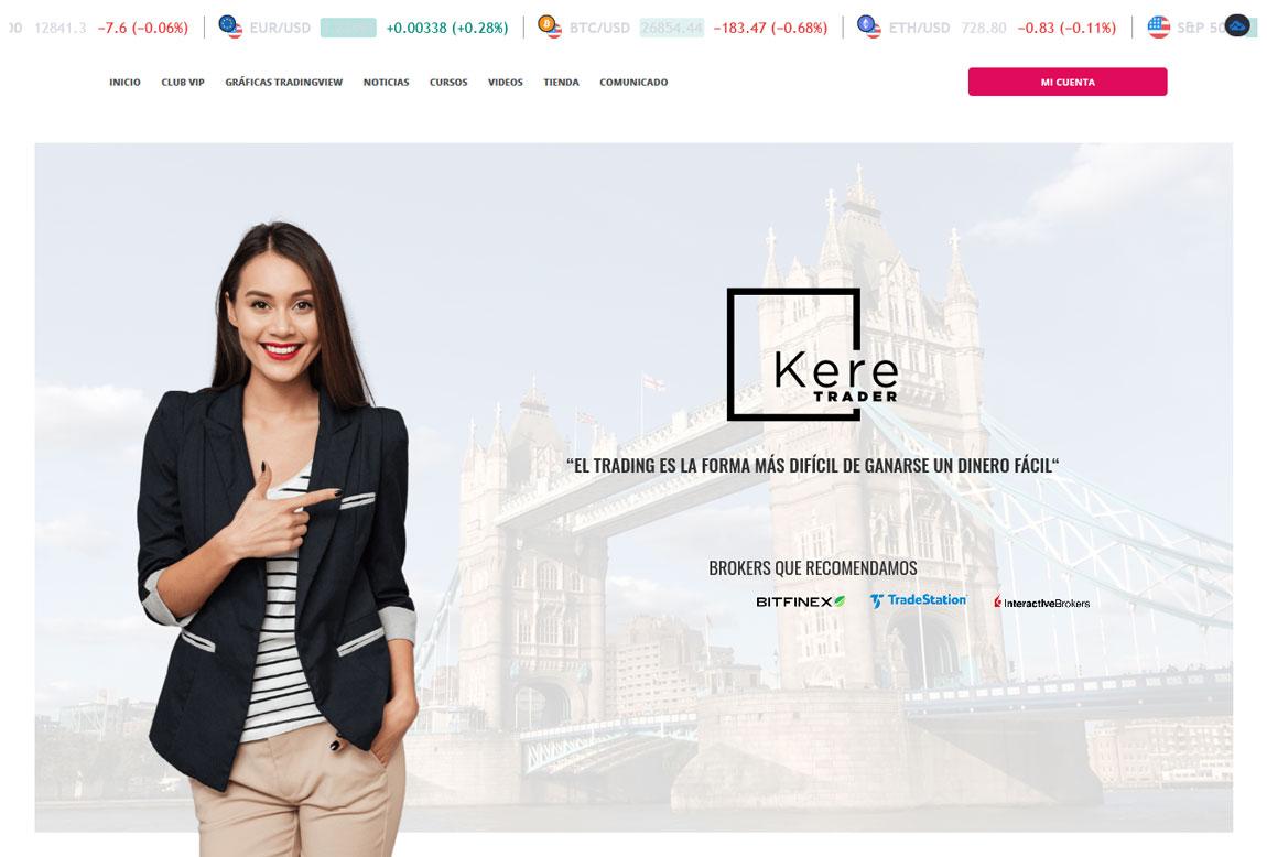 Kere Trader: página web