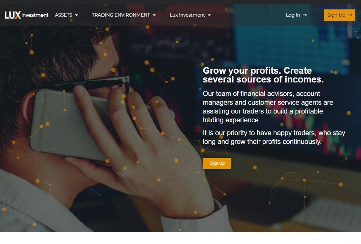 Lux Investment: página web