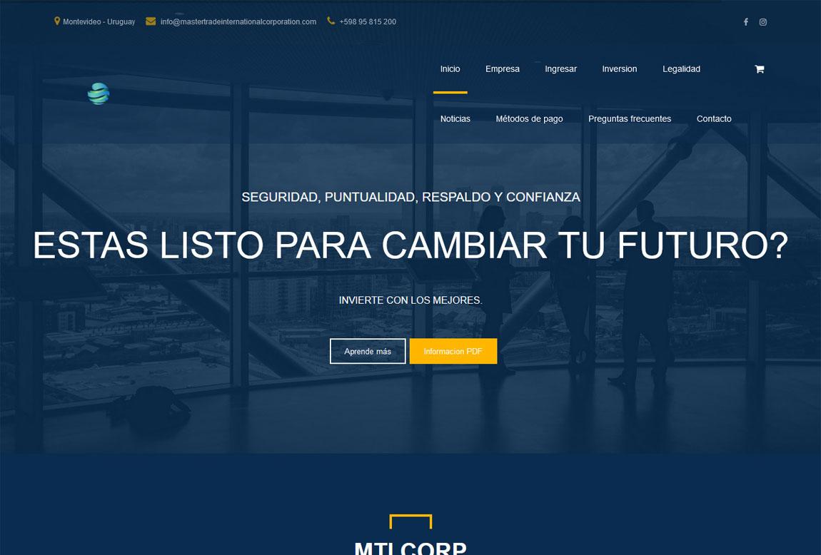 Master Trade International: página web