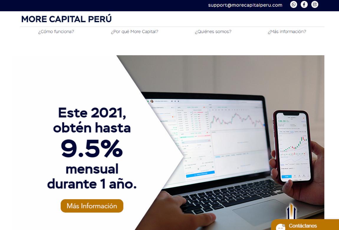 More Capital Perú: página web