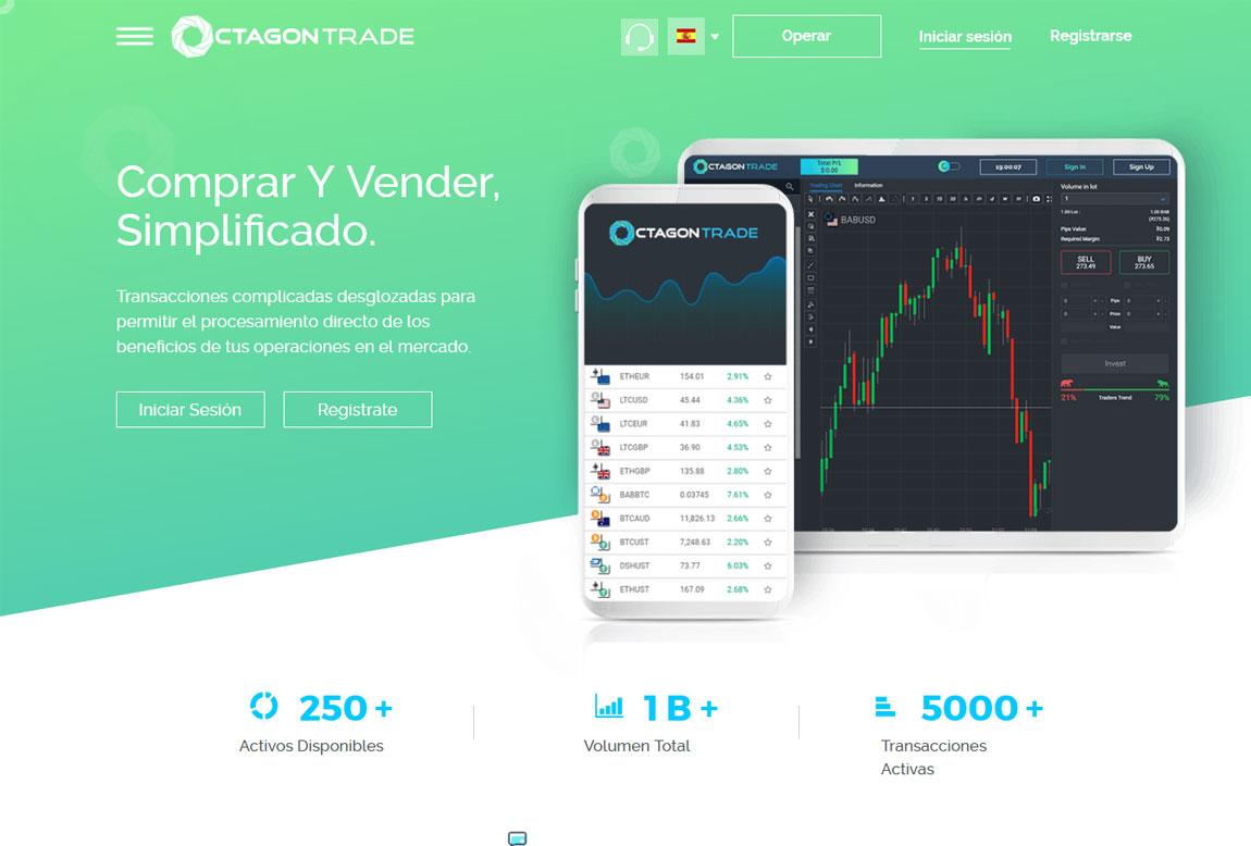 Octagon Trade: página web