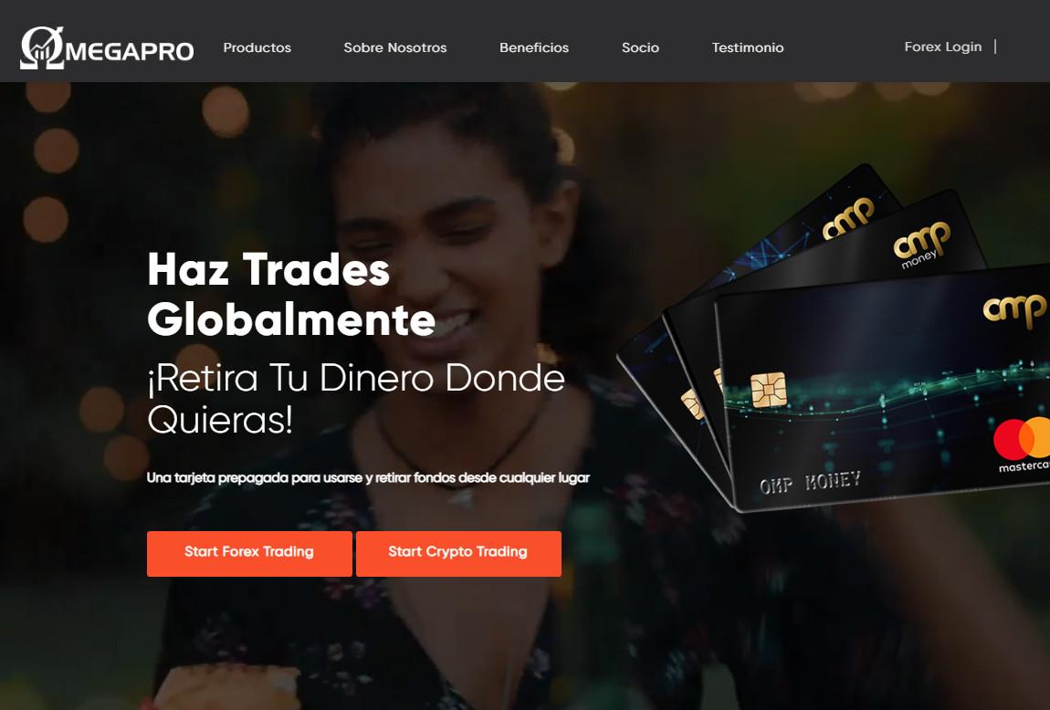 OmegaPro: página web