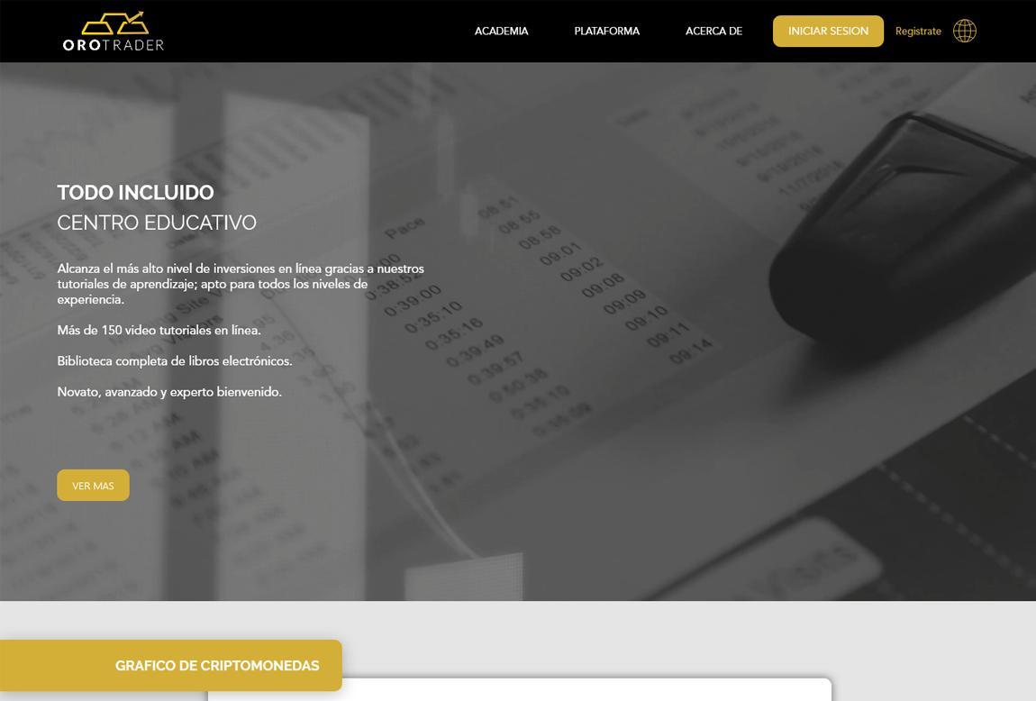 Orotrader: página web