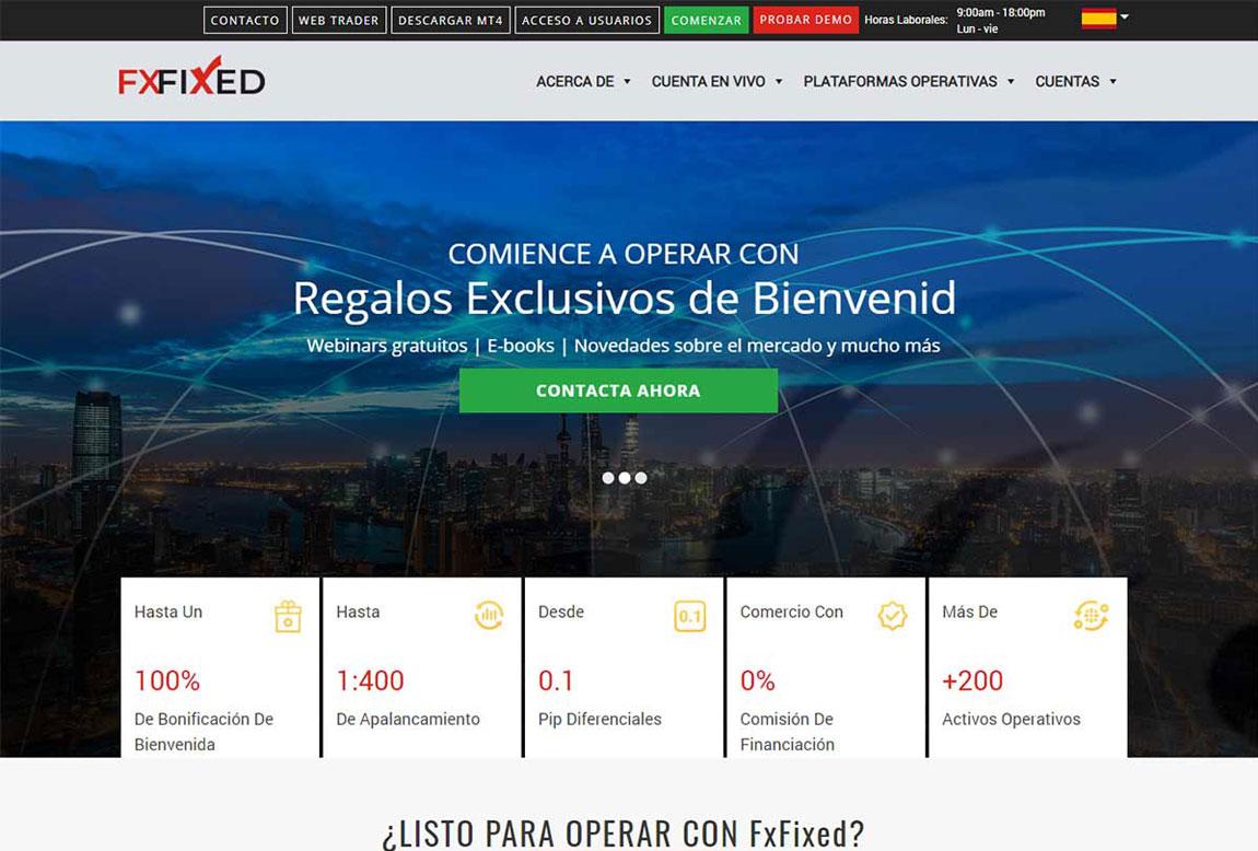 FxFixed: página web