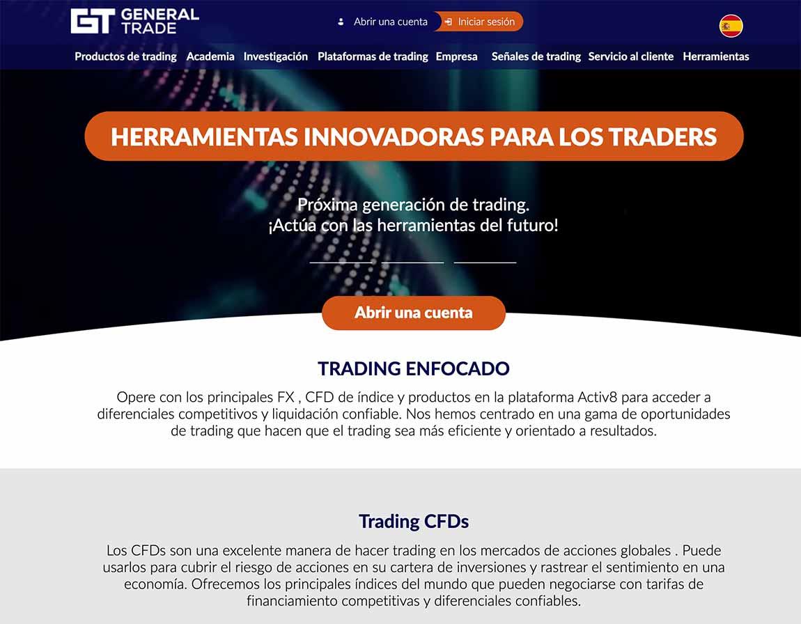 GeneralTrade: página web