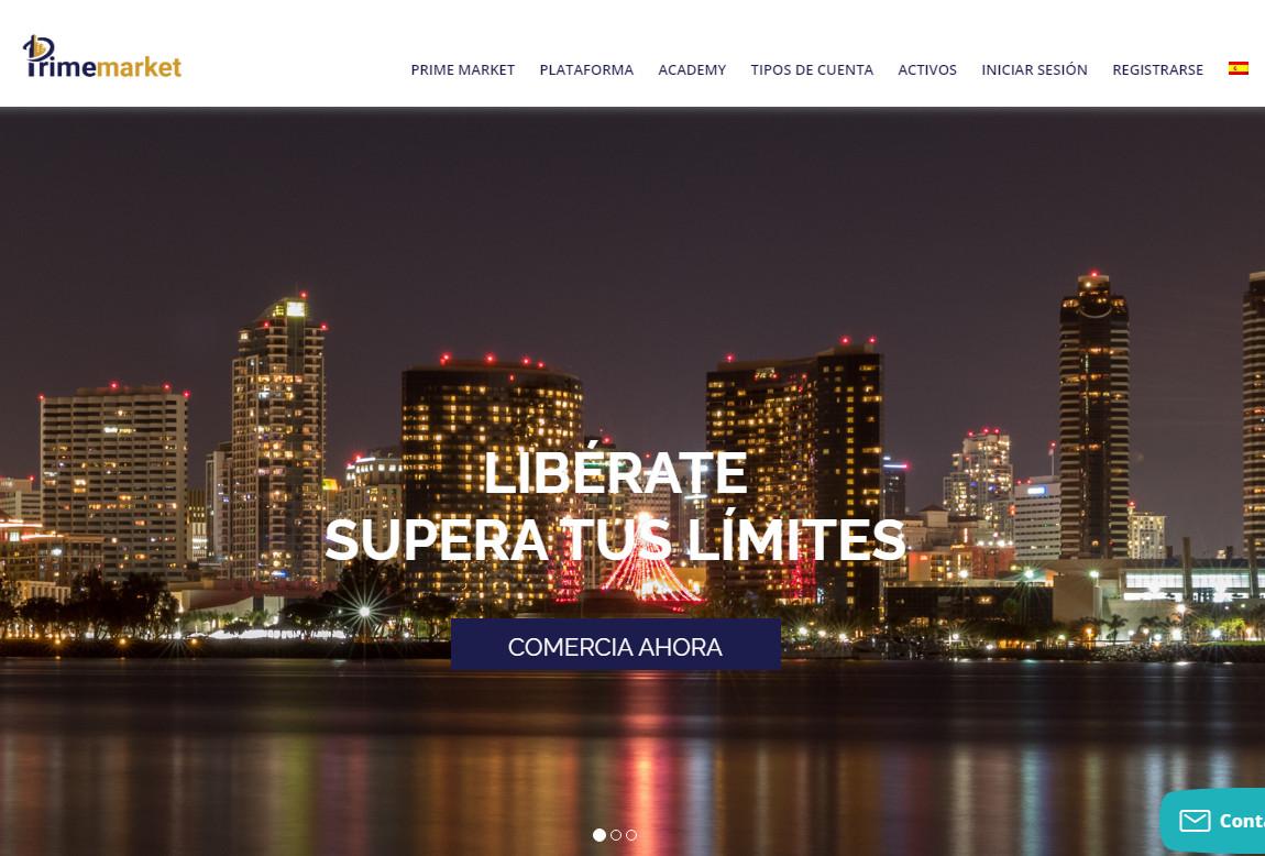 Prime Market: página web