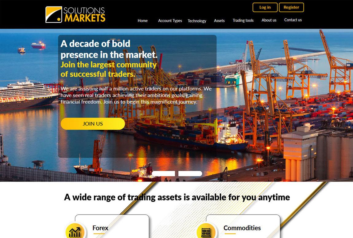 Solution Markets: página web