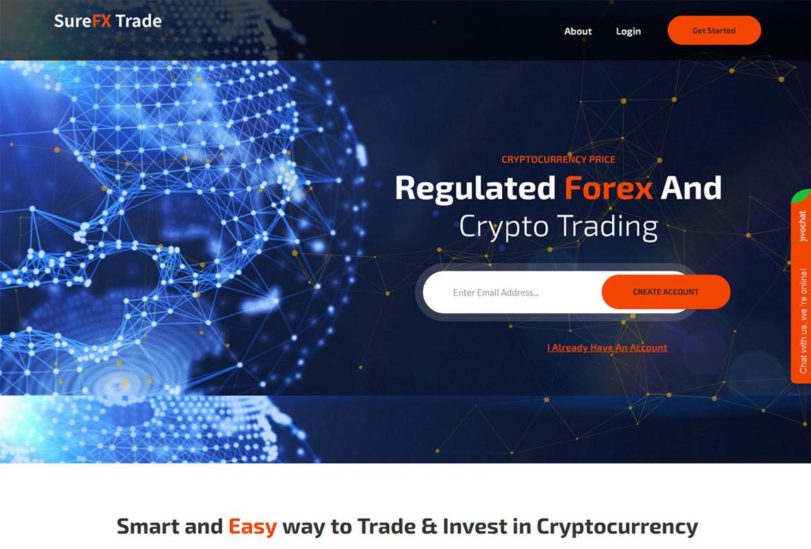 SureFX Trade: página web
