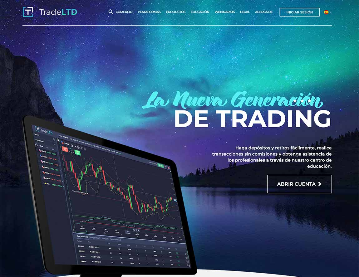 Trade Ltd: página web