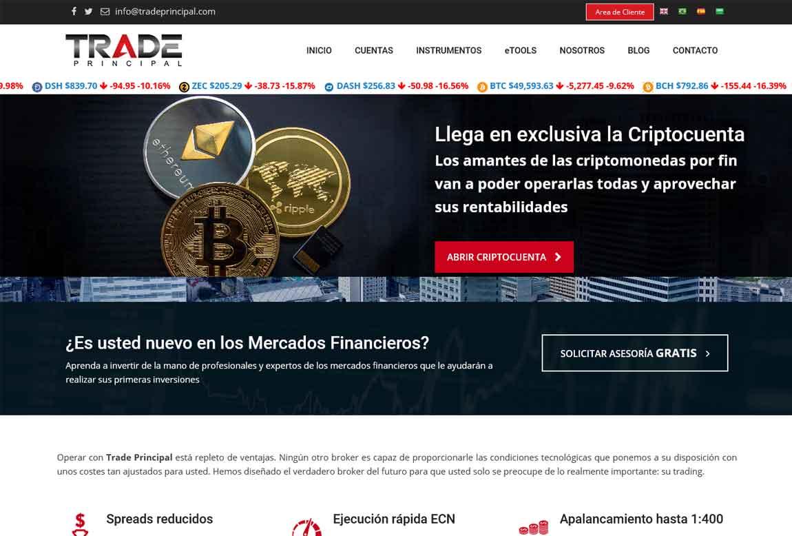 Trade Principal: página web