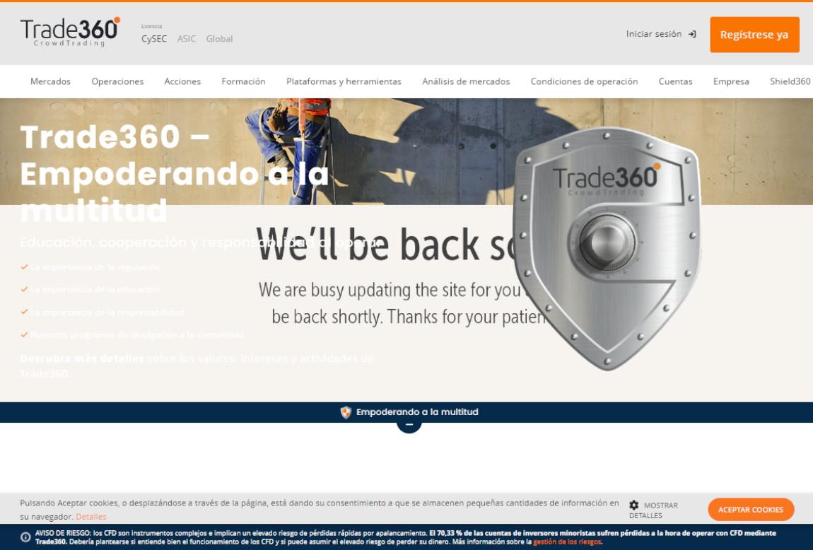 Trade360: página web