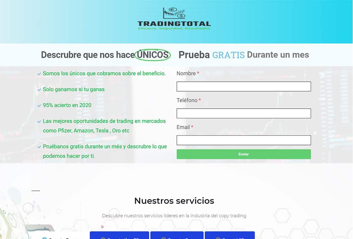 Trading Total: página web