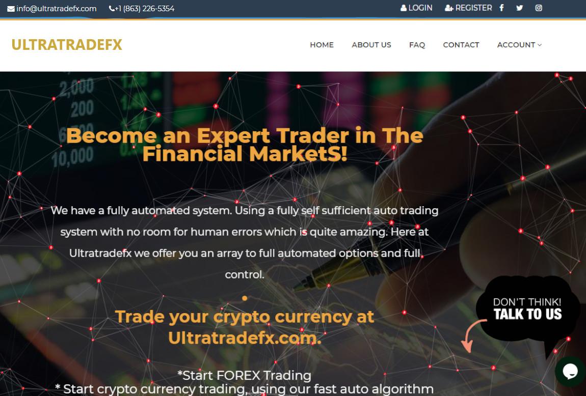Ultra Trade Fx: página web