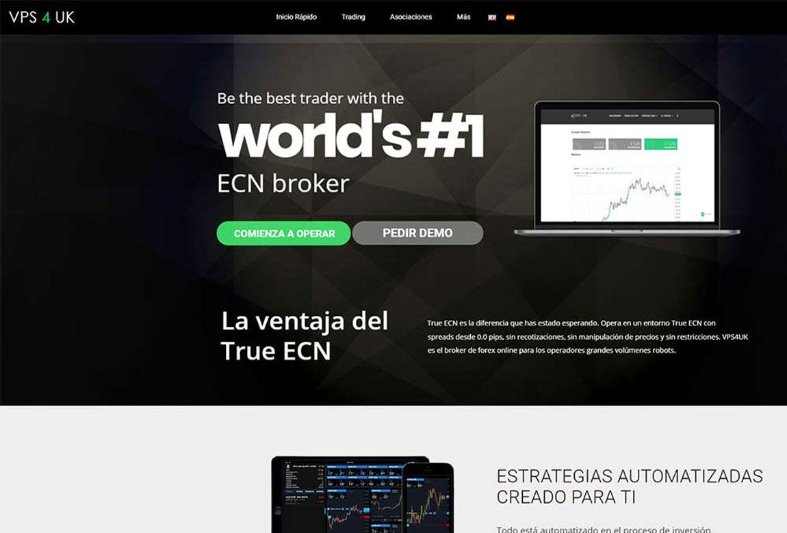 VPS4UK: página web