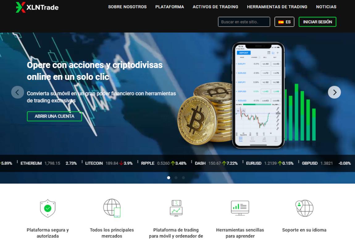 XLNTrade: página web